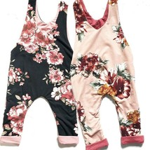 0 24M Newborn Cute Romper With Hat 2pcs Hot New Baby Girl Floral Romper ... - $8.69