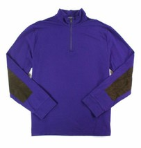 $185 Polo Ralph Lauren Men's French Terry Mockneck Pullover, Purple, Size L. - $98.99