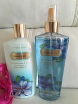 Victoria's Secret Aqua Kiss  Body Lotion + Fragrance Spray Mist Full Size - $23.51