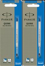 2 x Parker Quink Flow BallPoint Ball point Pen Refills BallPen Blue Fine... - $4.99