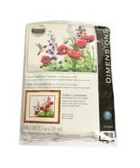 Dimensions Hummingbird & Poppies  Creative Crewel Stitchery 14 x 11 Sealed - $29.99