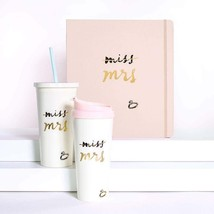 Bridal Insulated Tumbler with Reusable Straw, 20 Ounces, Miss to Mrs. Tu... - $42.00