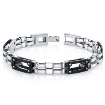 Men's Double Chain Design Stainless Steel Bracelet - $64.99