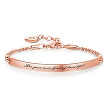 Annamate Engraved Message Be Your own Kind of Beautiful Inspirational Qu... - $38.46