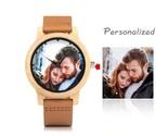 Creative Custom Photo Wood Watch, Groom Gift, 5th Year Anniversary, Watch For Me - £79.45 GBP