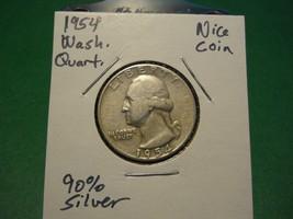 1954 Washington Silver Quarter!!! Nice Coin!!! 90% Silver!!! - $3.89