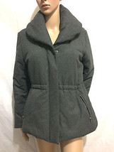 Ann Taylor LOFT Women Shawl Collar Puffer Jacket Size  M Petites Gray - $26.84