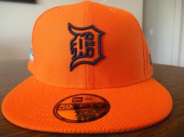 DETROIT TIGERS NEW ERA 59FIFTY 2017 FLORIDA LEAGUE ORANGE FITTED CAP SIZ... - $25.99