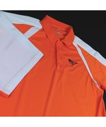 Baltimore Orioles Orange White Polo Golf Shirt Sz L Real Bird Logo MLB AL - $25.99