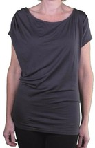 Bench Womens Gray Loved Up Scoop Neck Tunic Shirt Casual Top BLGA2725