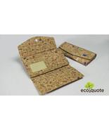 EcoQuote EcofriendlyTri Fold Long Wallet Handmade Cork Material Great fo... - $31.00