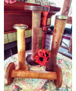 Assorted Vintage Industrial Wooden Spools Purchase in lot or individually! - $15.00+