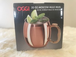 Oggi 20 oz. Moscow Mule Mug Copper Plated Cup Goblet~NEW In Box - $9.46