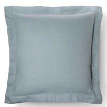 2 Fieldcrest Linen Pillow Sham Euro Aqua NWop P... - $31.49
