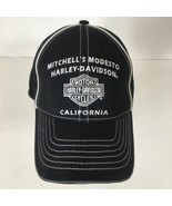 Harley-Davidson Men's Hat Baseball Cap Black Mitchell's Modesto California - $19.80