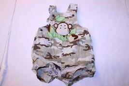 Infant/Baby Baby Okie Dokie Sz 6/9 Mo. Monkey Overalls Shorts - $9.49