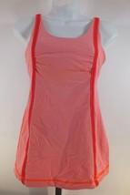 Lululemon Tank Top Sports Bra Sz 6 Pink Orange Stripes B95 - $21.15