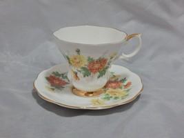 Royal Albert England Friendship Cup and Saucer Set Chrysanthemum - $15.84