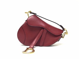NEW AUTH Christian Dior RED Saddle Shoulder Bag WITH STRAPLESS  image 1