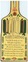 Receta para Un Feliz Navidad Bottle-Shaped Tarjetas de Navidad Hallmark 1980 - $24.21