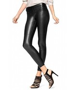 Hue Women's Small Leatherette Leggings Pants Black S - $39.20