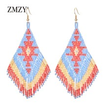 Ethnic Earings Fashion Jewelry Drop Earrings for Women Bohemian Long Tas... - $13.87