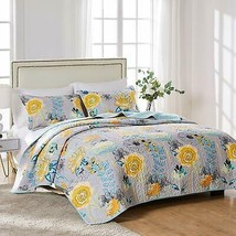 Greenland Home Watercolor Dream 100% Cotton Quilt Set, Gray - $117.14+