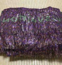 LOUIS VUITTON Scarf Stole Shawl Leopard Purple Lame Cashmere Silk Rare 7... - $546.06