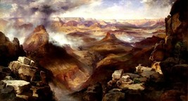 The Grand Canyon Of The Colorado River American Painting By Thomas Moran Repro - $10.96+