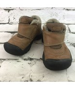 Keen Kids Kootenay Faux Shearling Boots Toddler Kids Size 9 Tan Hiking S... - $19.79