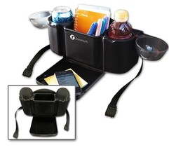 Zone Tech Style Auto Car Back Seat Organizer Tray Food Desk Cup Drink Ho... - $14.50