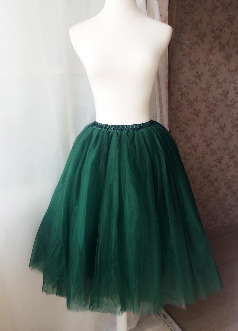 Green tulle skirt 1