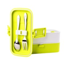 Lunch Box for Kids Adults,2Layers Leak-Proof Microwave Safe FDA-Approved... - $32.06