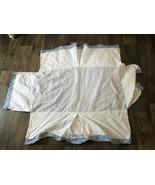 Pottery Barn Kids Crib Dust Ruffle Checkered White Blue Gingham - $16.82