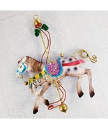 Carousel Spotted  Horse Tin Metal Hanging 8  1/2 Inches Total Length  - $14.53