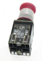 ALLEN BRADLEY 800MR-D6 SER. A PUSH BUTTON 800MRD6 W/ 800M-XA B CONTACT BLOCKS image 2