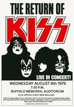 "KISS 24 x 35 ""Return Of KISS"" Buffalo Memorial Stadium Custom Concert Po... - $45.00"