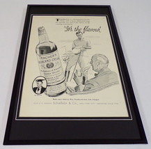 1937 Teacher's Cream Whiskey Framed 11x17 ORIGINAL Vintage Advertising P... - $65.09