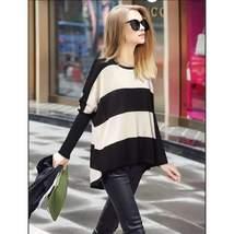Casual Loose Stripe Pullover Sweater - $30.69
