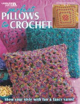 Perfect Pillows to Crochet, Leisure Arts Crochet Pattern Booklet 3807 - $3.95