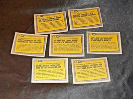 AA11986 Topps Baseball LOT 7 Cards '86 RECORD BREAKERS MINT Vintage AA19-BTC4000 image 2