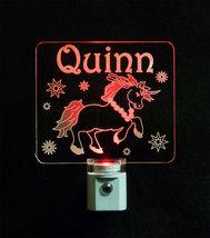 """Personalized Unicorn Night Light - LED - Girls Lamp 3/8"""" Acrylc image 8"""