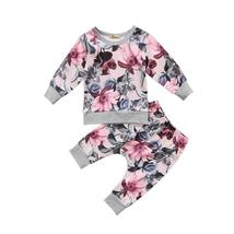 Sets of baby girl floral top pant outfit clothes - $12.56