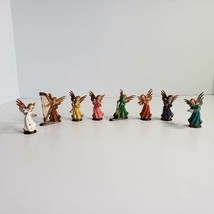 Vintage Hard Plastic Christmas Angels Playing Musical Instruments Made H... - $24.99