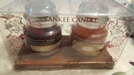 Yankee Candle Package of Two 3.7 OZ Jar Candles. Cranberry Chutney & Pum... - $24.74
