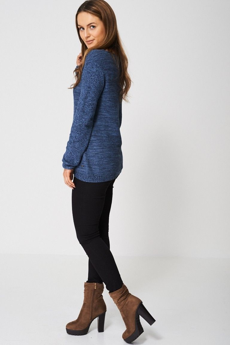 Cotton Jumper In Blue Sizes : 8, 10, 12, 14, 16 PLUS Size Brand New
