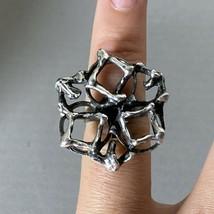 Vintage Mid Century Modern E Granit Co Sterling Silver Modernist Brutalist Ring - $158.39