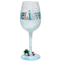 Lolita I Still Believe Wine Glass Retired Rare New in Box with Tag Chris... - $65.44