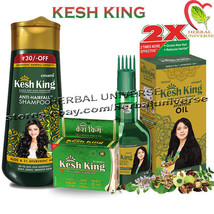 Kesh King Complete Hair Loss Treatment Pack - Herbal Oil - Shampoo & Caps HA - $5.79+