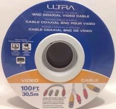 ULTRA - U12-41633 - RG58/U Male-To-Male BNC Coaxial Video Cable, 100' /3... - $19.75